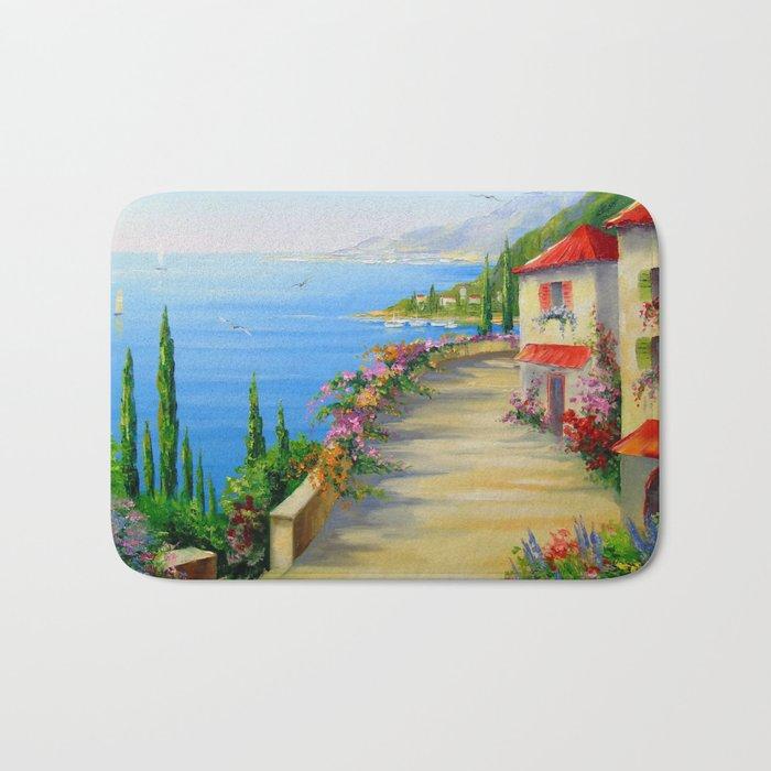 The town by the sea Bath Mat