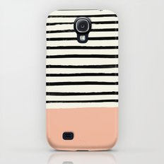 Peach x Stripes Slim Case Galaxy S4