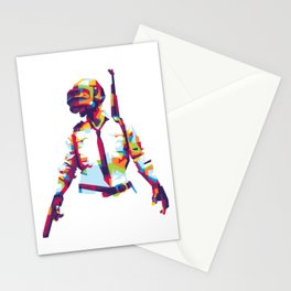 PlayerUnknown's Battlegrounds PUBG WPAP Pop Art Stationery Cards