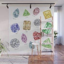 Gems pattern Wall Mural