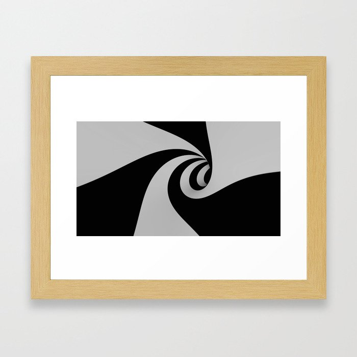 Hypnotic/Abstract Tunnel Framed Art Print