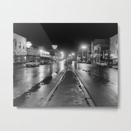 Black & White Street Metal Print