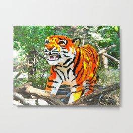 Lego Tiger Metal Print