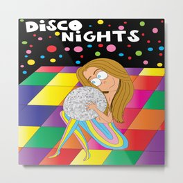 Disco Nights Metal Print