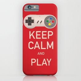 Keep Calm and Play vintage poster iPhone Case
