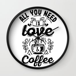 Coffee design with vintage style Wall Clock
