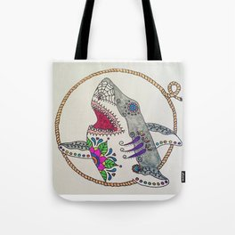 Day of The Dead Shark Tote Bag
