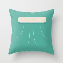 air conditioner ac cool Throw Pillow
