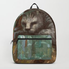 Napping on the cushion Backpack
