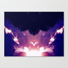 Neon Pyramid Canvas Print