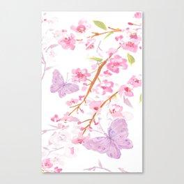 butterflies watecolor Canvas Print
