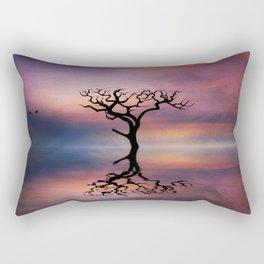 Lone Tree Sunrise Rectangular Pillow