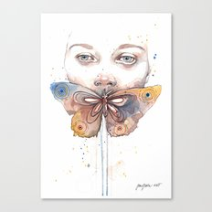 Butterfly, watercolor Canvas Print