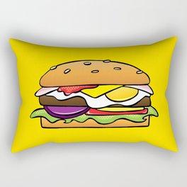 Aussie Burger on Yellow Rectangular Pillow