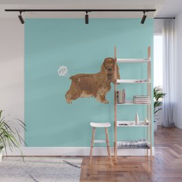 cocker spaniel funny farting dog breed gifts Wall Mural
