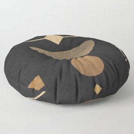 Subtle Opulence - Minimal Geometric Abstract 2 Floor Pillow
