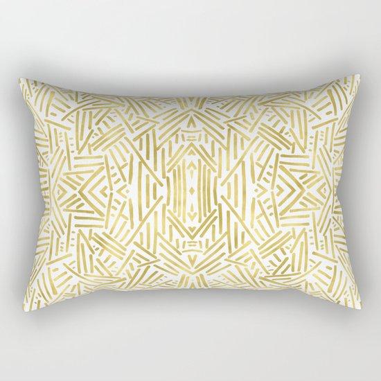 Radiate - Gold Rectangular Pillow