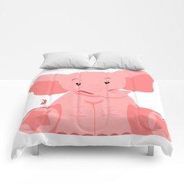 Pink Elephant Comforters