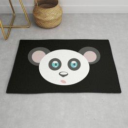 cute panda bear head, teddy, panda Rug