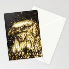 Golden American Eagle Stationery Cards