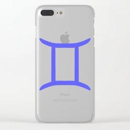 zodiac- gemini Clear iPhone Case