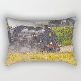 Rain On A Train Rectangular Pillow