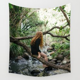 Sending Thoughts Downstream Wall Tapestry