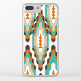 Ethnic Christmas pattern Clear iPhone Case