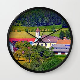 The village church of Eidenberg 2 Wall Clock