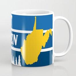 West Virginia Almost Heaven Nature Retro Print Coffee Mug