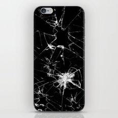 Shatterd+black iPhone & iPod Skin