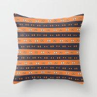 haikyuu Throw Pillows featuring Haikyuu!! Karasuno Bows by InkyThoughts