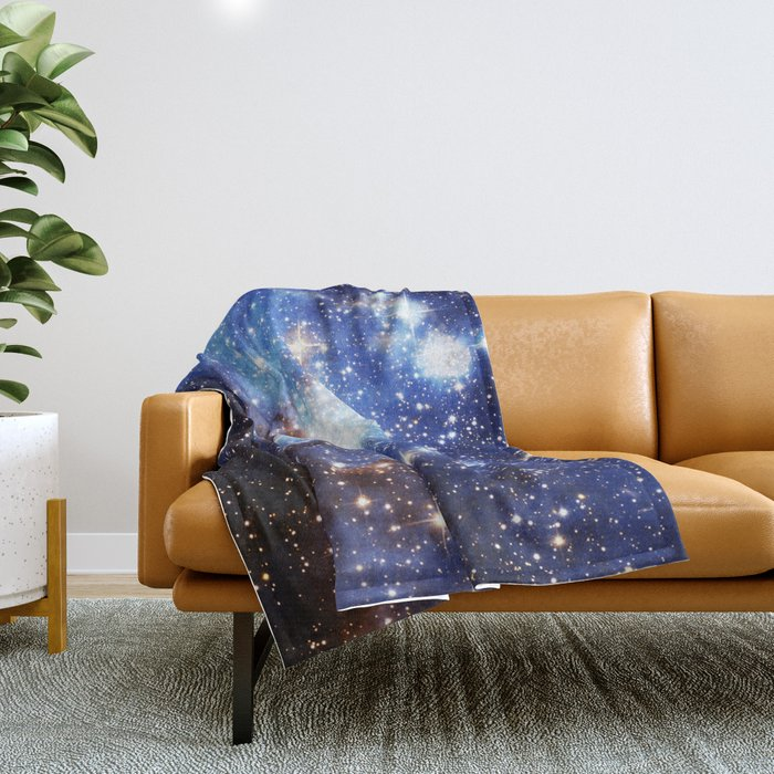 Blue Galaxy Throw Blanket