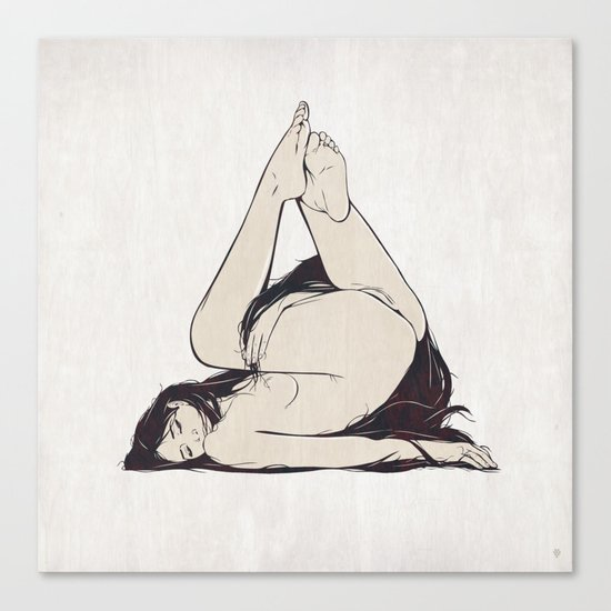 My Simple Figures: The Triangle Canvas Print