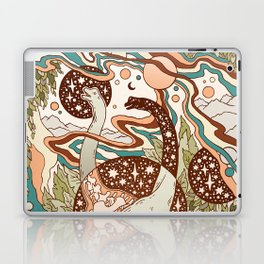 Jurassic Portal | Retro Rainbow Palette | Dinosaur Science Fiction Art Laptop & iPad Skin