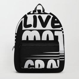 Gray Lives Matter funny alien shirt Backpack