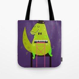 Dino pianist Tote Bag