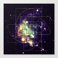 Galaxy Sacred Geometry: Golden mean Canvas Print