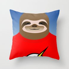 A SLOTH NAMED FLASH Throw Pillow