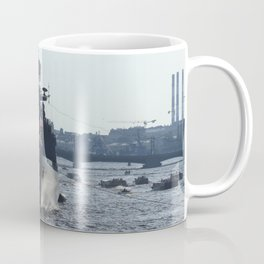 Russian Navy Battleships on Neva River. Coffee Mug