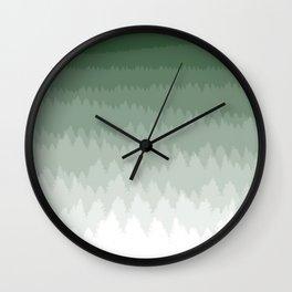 Green Ombré Forest Wall Clock