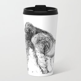 silverback gorilla Metal Travel Mug