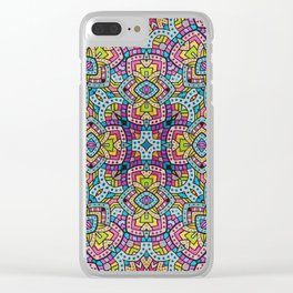Persian kaleidoscopic Mosaic G515 Clear iPhone Case