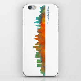 Philadelphia City Skyline Hq V1b iPhone Skin