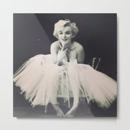 Marilyn Monroe Tutu Metal Print