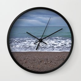 Foam on the Beach Wall Clock
