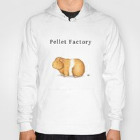 guinea pig Hoodies featuring Pellet Factory - Guinea Pig Poop by When Guinea Pigs Fly