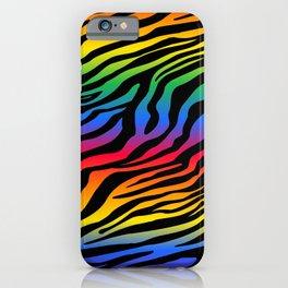 Zazzy Zebras - Rainbow iPhone Case