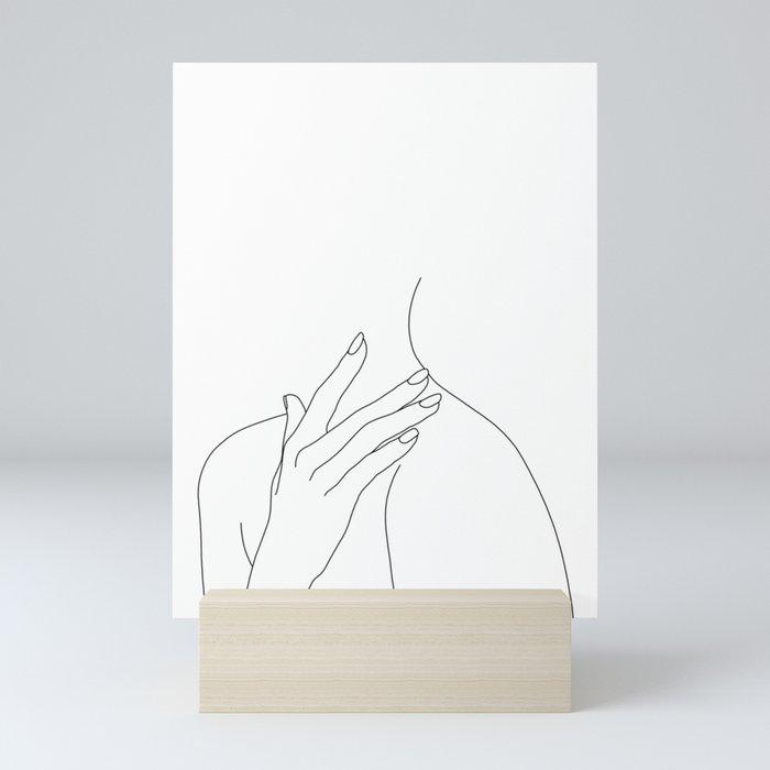 Female body line drawing - Danna Mini Art Print