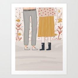 Loving you is easy Art Print